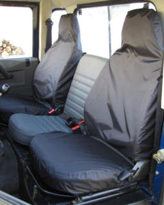 Land Rover Defender Black Seat Covers