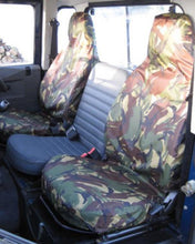 Load image into Gallery viewer, Land Rover Defender Camo Green Seat Covers