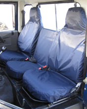 Load image into Gallery viewer, Land Rover Defender Navy Blue Seat Covers