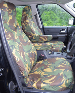 Land Rover Discovery 3 Seat Covers in Green Camo