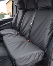 Load image into Gallery viewer, Mercedes Vito Double Passenger Seat Cover - Black