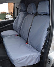 Load image into Gallery viewer, Mercedes Vito Grey Double Passenger Seat Cover