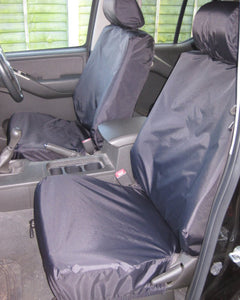 Navara D40 Tailored Front Seat Covers - Black