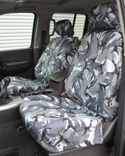 Load image into Gallery viewer, Grey Camo Front Seat Covers for Navara D40