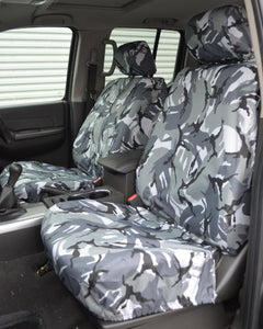 Grey Camo Front Seat Covers for Navara D40