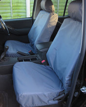 Load image into Gallery viewer, Grey Tailored Front Seat Covers for Navara D40