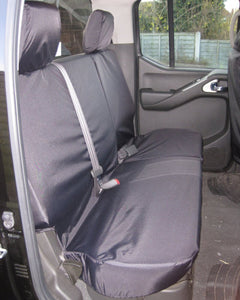 Navara D40 Tailored Rear Seat Covers - Black