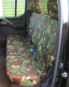 Navara D40 Rear Seat Covers - Green Camo