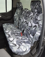 Load image into Gallery viewer, Navara D40 Rear Seat Covers - Grey Camo