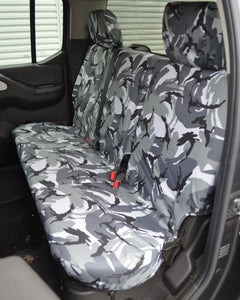 Navara D40 Rear Seat Covers - Grey Camo