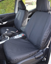 Load image into Gallery viewer, Navara Black Tailored Front Seat Covers