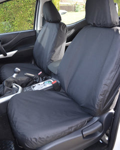 Navara Black Tailored Front Seat Covers