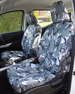 Nissan Navara Tailored Front Seat Covers in Camouflage Grey