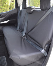 Load image into Gallery viewer, Nissan Navara Black Tailored Rear Seat Cover