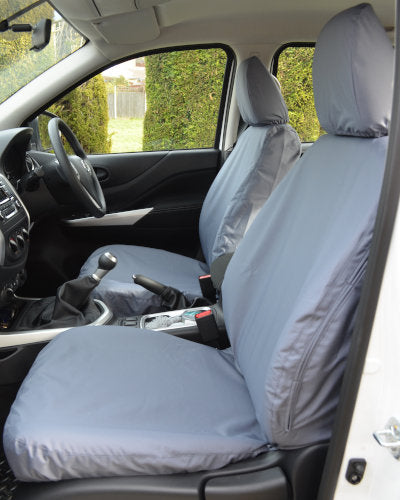 Navara Tailored Front Seat Covers in Grey