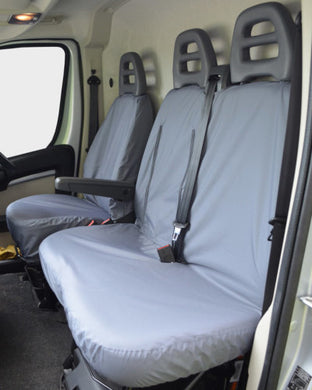 Peugeot Boxer Grey Waterproof Seat Covers