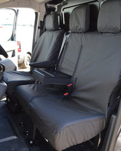 Load image into Gallery viewer, Peugeot Expert Black Waterproof Seat Covers