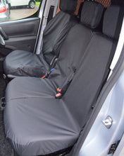 Load image into Gallery viewer, Peugeot Partner Van Seat Covers - Black
