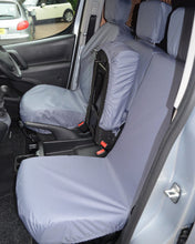 Load image into Gallery viewer, Grey Waterproof Seat Covers - Peugeot Partner Panel Van