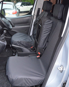Black Waterproof Seat Covers - Vauxhall Combo Panel Van