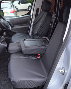 Black Waterproof Seat Covers - Peugeot Partner Panel Van