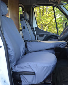 Grey Seat Covers for Renault Master Panel Van