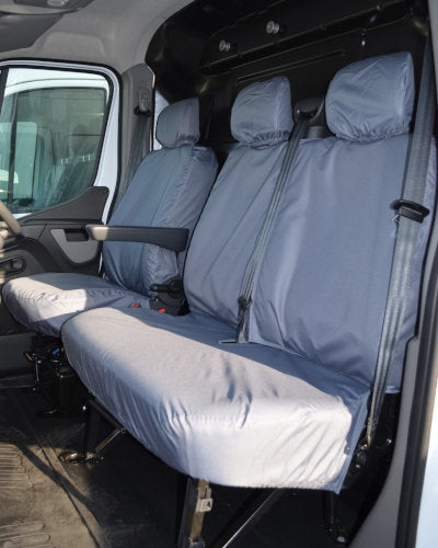 Renault Master 2010 Tailored Waterproof Driver Seat Cover Grey