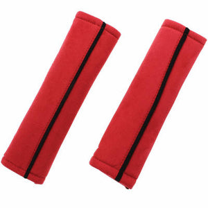Seat Belt Pads - Red