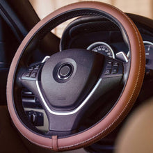 Load image into Gallery viewer, Steering Wheel Cover - Brown
