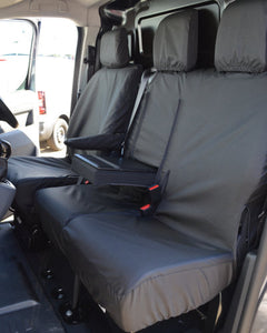 Black Waterproof Seat Covers for Toyota Proace Van