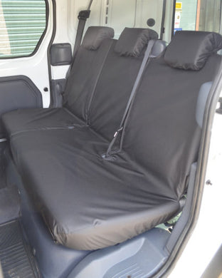 Ford Transit Connect Van Mk1 Rear Seat Covers - Black