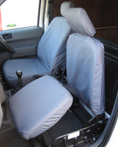 Ford Transit Connect 2 x Fronts Grey Camouflage Waterproof Van Seat Covers