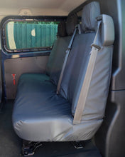 Load image into Gallery viewer, Ford Transit Custom Double Cab Triple Rear Seat Cover in Black