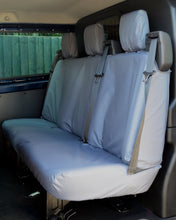 Load image into Gallery viewer, Ford Transit Custom Double Cab Triple Rear Seat Cover in Grey