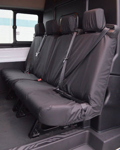 Black Tailored Covers for Ford Transit Double Cab Quad 2+2 Seats