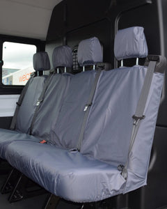Grey Tailored Rear Quad (2+2) Seat Covers for Ford Transit