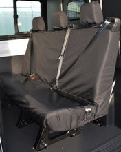 Load image into Gallery viewer, Ford Transit Double Cab Van Triple Seat Covers in Black