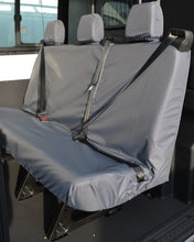 Load image into Gallery viewer, Ford Transit Double Cab Triple Rear Seat Covers in Grey