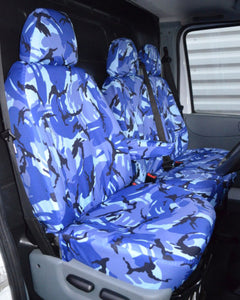 Ford Transit Van Mk6 to Mk7 Seat Covers - Camo Blue