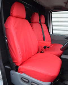 Ford Transit Van Mk6 to Mk7 Seat Covers - Red