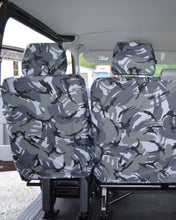 Load image into Gallery viewer, Kombi T5 Van 2nd Row Seat Covers - Camo Grey