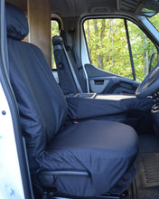 Load image into Gallery viewer, Black Seat Covers for Vauxhall Movano Panel Van