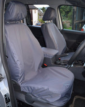 Load image into Gallery viewer, VW Amarok Tailored Grey Front Seat Covers