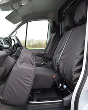 Load image into Gallery viewer, New VW Crafter Seat Covers - Black Fold Forward