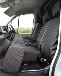 New VW Crafter Seat Covers - Black Fold Forward