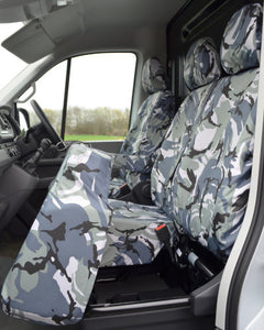 New VW Crafter Seat Covers - Camo Fold Forward