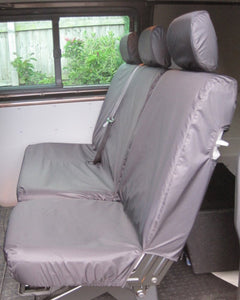 Transporter T5 Kombi Facelift - Rear Black Seat Covers