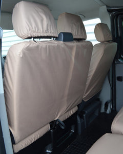 VW Transporter Tailored Dual Front Seat Covers - Beige / Cream