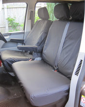 Load image into Gallery viewer, VW Transporter Tailored Seat Covers - Black