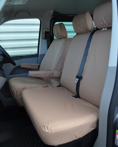 VW Transporter T5 Tailored Seat Covers - Beige